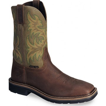 Stampede Waxed Brown by Justin Boots