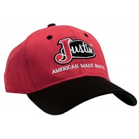 Justin® Red with Black Bill Logo Cap