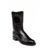 Black Full Quill Ostrich by Justin Boots