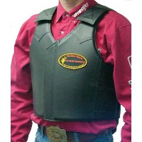 Leather Bull Riding Vest
