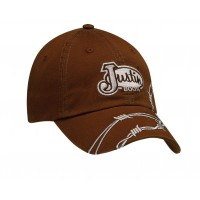 Justin Dark Brown with Barbwire Cap