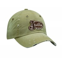 Justin Distressed Tan Cap