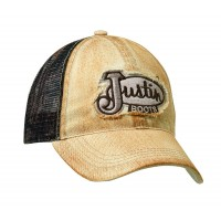 Justin® Distressed Tan with Mossy Oak Mesh Cap