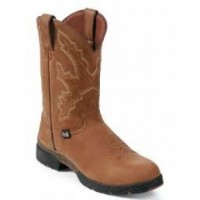 Waterproof Coffee Westerner by Justin Boots