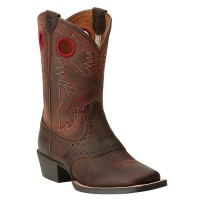 Ariat Kids Square-Toe Roughstock Western Boots