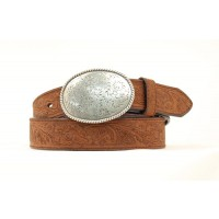 Brown Embroided Belt by Nocona