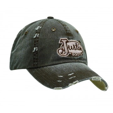 Justin® Distressed Brown Cap