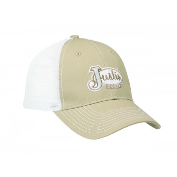 Justin® Tan with White Mesh Cap