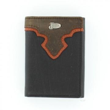 Justin® Black Tri-Fold Wallet