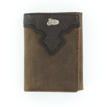 Justin® Brown Tri-Fold Wallet