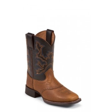 Mahogany Worn Saddle by Justin® Boots