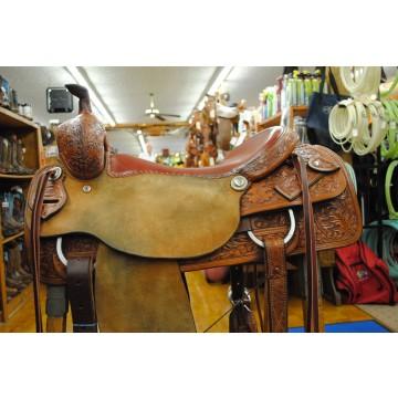 M.L. Leddy Flat Seat Cutter Saddle