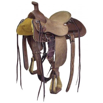 Half Breed Roper Saddle - Dark