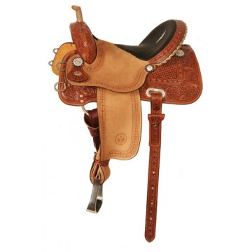 Deep Blue Stingray Barrel Saddle