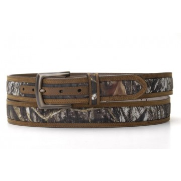 Brown with Mossy Oak Inlay Belt by Nocona