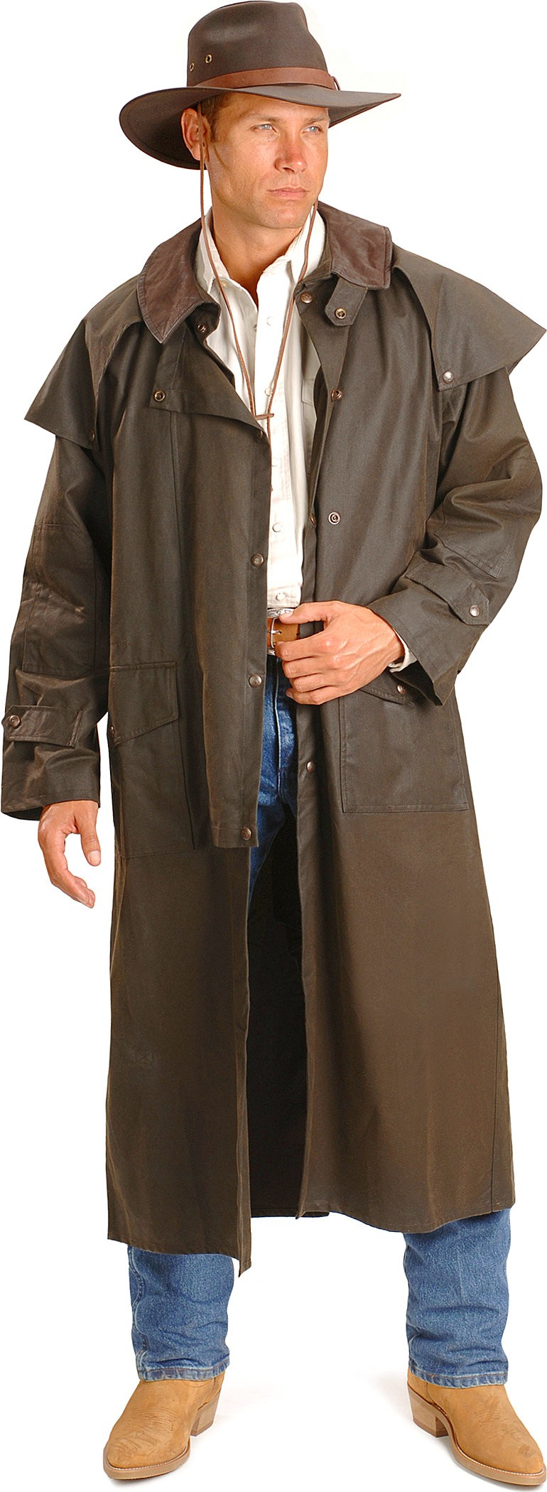 Long Oilskin Duster By Outback Trading Co Jacksons