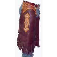 Custom Tooled Leather Chinks