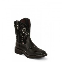 Black Deercow Boot by Justin