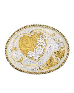 Gold and Silver Heart Buckle