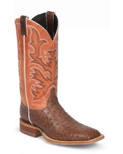 Antique Brown Vintage Full Quill Ostrich by Justin® Boots