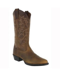 Ariat Mens Heritage Western Distressed Brown Cowboy Boots