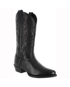 Ariat Mens Heritage Western Black Deertan Cowboy Boots