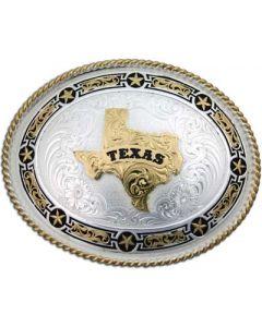 Large Stars and Filigree Texas Buckle