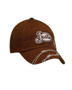Justin® Dark Brown with Barbwire Cap