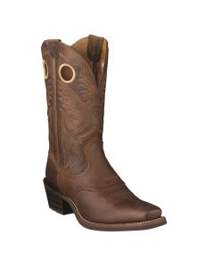 Ariat Mens Heritage Roughstock Brown Oiled Rowdy Cowboy Boots