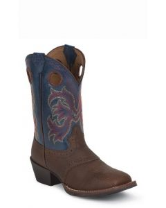 Dark Brown Rawhide w Perfed Saddle by Justin® Boots