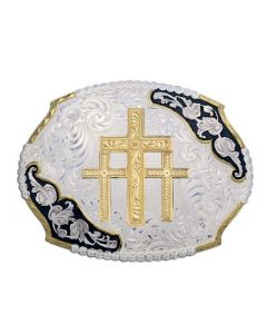 Fancy Scalloped Triple Cross Buckle