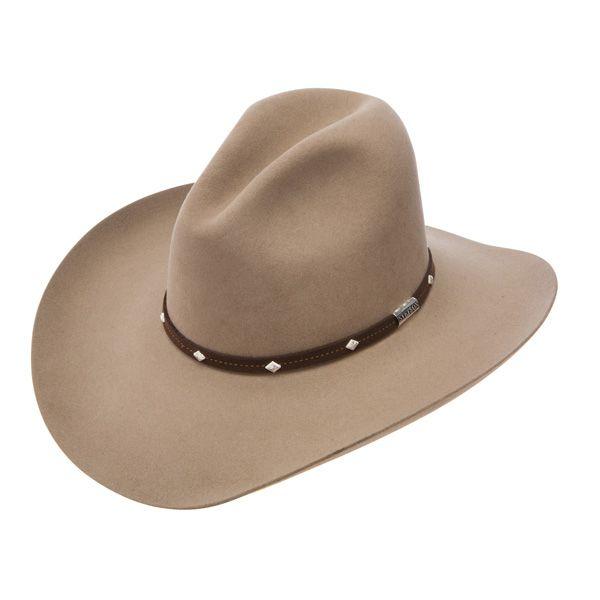 Size 7 3//4 Stetson 4X Apache Black Buffalo Fur Felt Cowboy Western Hat