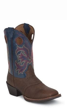 88486db2b42 Dark Brown Rawhide w Perfed Saddle by Justin® Boots - Jacksons Western Store