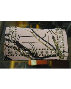 Mossy Oak Pink Camo Bling Clutch