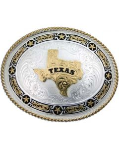 Large Stars and Filigree Texas Buckle