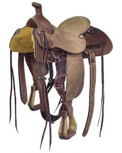 Half Breed Roper Saddle - Dark