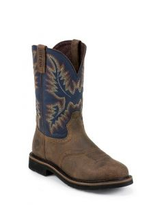 """11"""" Steel Blue Cowhide by Justin® Boots"""